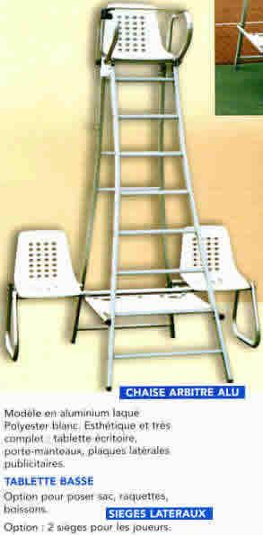 equipement vwsports chaussure tennis chaise arbitre alu. Black Bedroom Furniture Sets. Home Design Ideas
